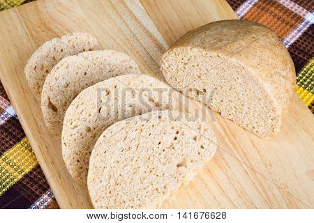 Delicious homemade steamed bread from whole wheat flour. Knodel knedlik knedle dumpling is a traditional Central and Eastern European side dish
