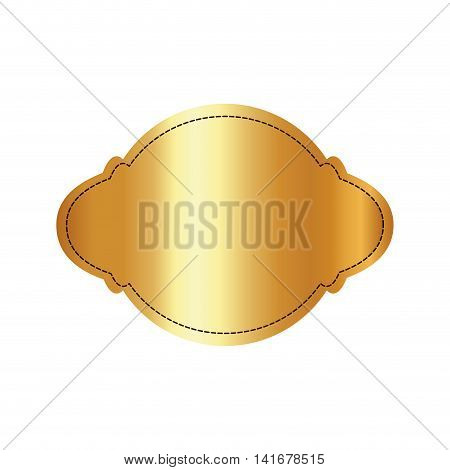 label frame luxury elegant banner con. Isolated and flat illustration. Vector graphic