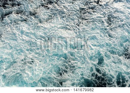 Wake of a ship Sea or ocean water surface