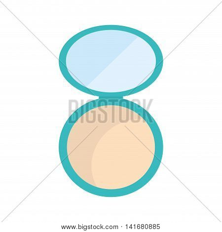 powder make up style product icon. Isolated and flat illustration. Vector graphic