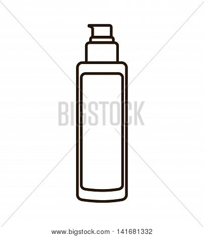cream bottle make up style product icon. Isolated and flat illustration. Vector graphic