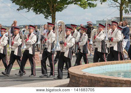 Band During A Parade