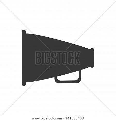 megaphone amplifer communication speaker icon. Isolated and flat illustration. Vector graphic
