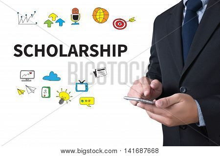 SCHOLARSHIP businessman working use smartphone man business  businessman vision work