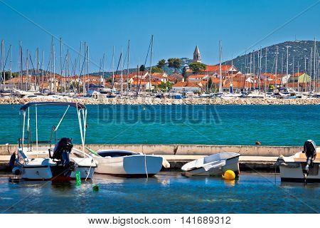 Town of Biograd Na Moru coastline view Dalmatia Croatia