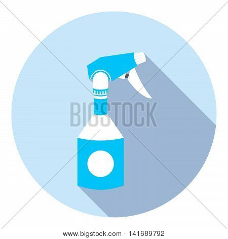 Home Cleaning Sprayer Flat Icon