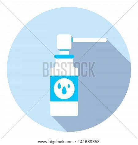 Medical Nose Care Spray Flat Icon