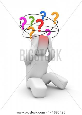 Questions without answers. 3d illustration