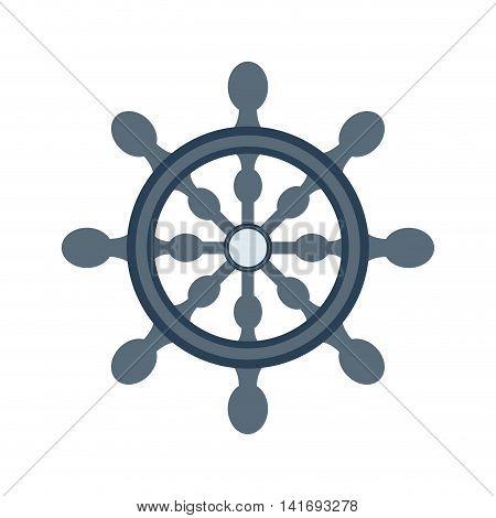 rudder sea lifestyle nautical marine  icon. Isolated and flat illustration. Vector graphic