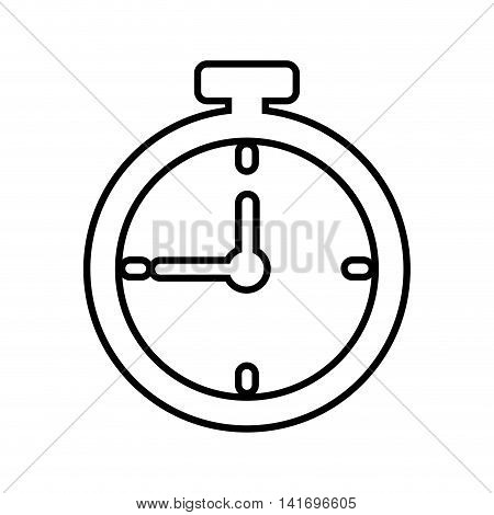 chronometer time silhouette sport icon. Isolated and flat illustration. Vector graphic
