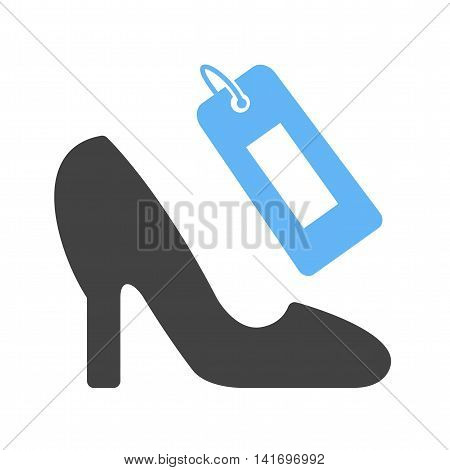 Shop, shoe, stylish icon vector image. Can also be used for shopping. Suitable for use on web apps, mobile apps and print media.