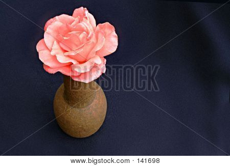 Rose In A Clay Jar