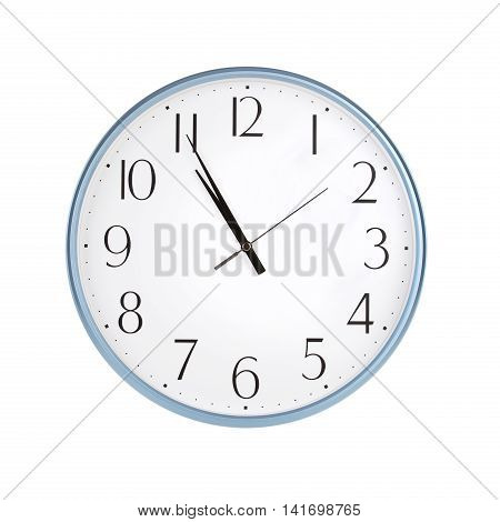 Five minutes to eleven on round the clock