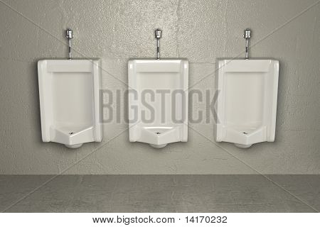 Urinals On Dirty Wall. Abstract Background