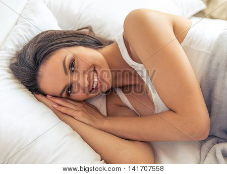 Beautiful Woman In Bed