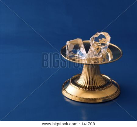 Diamonds On Gold Pedestal