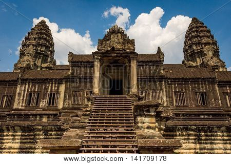 Angkor Wat temple Siem Reap Cambodia Hinduism Khmer culture buildings