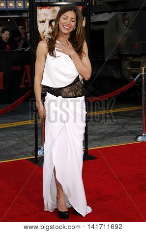 Jessica Biel at the World premiere of 'The A-Team' held at the Grauman's Chinese Theater in Hollywood, USA on June 3, 2010.