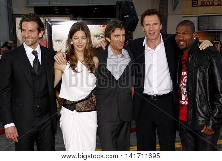 Bradley Cooper, Jessica Biel, Sharlto Copley, Liam Neeson and Quinton Jackson at the World premiere of 'The A-Team' held at the Grauman's Chinese Theater in Hollywood, USA on June 3, 2010.