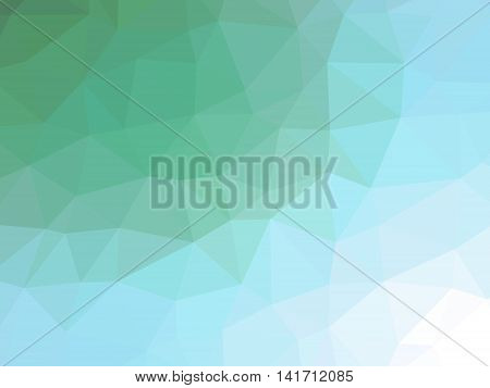 Green Teal Gradient Abstract Polygonal Triangular Background
