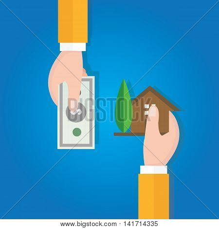 buy sell home house property price hand transaction vector