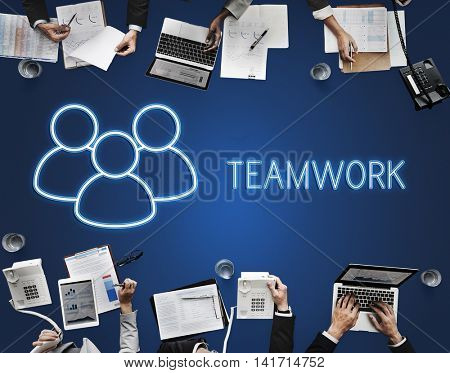 Partnership Teamwork Support Alliance Graphic Concept