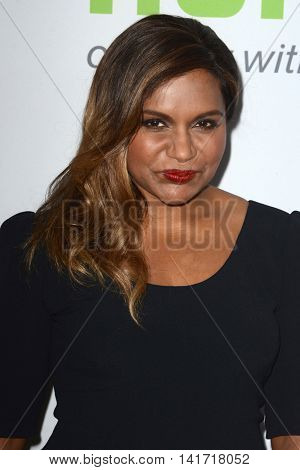 LOS ANGELES - AUG 5:  Mindy Kaling at the HULU TCA Summer 2016 Press Tour at the Beverly Hilton Hotel on August 5, 2016 in Beverly Hills, CA