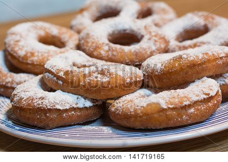 tasty donuts served fresh on the plate