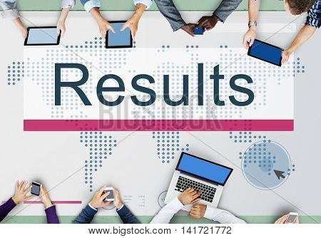 Results Effciency Evaluate Outcome Progress Concept