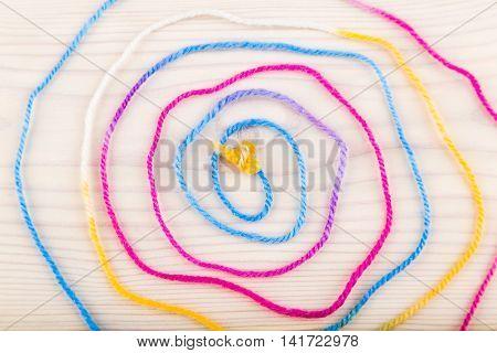 Spiral Made Of Wool Thread