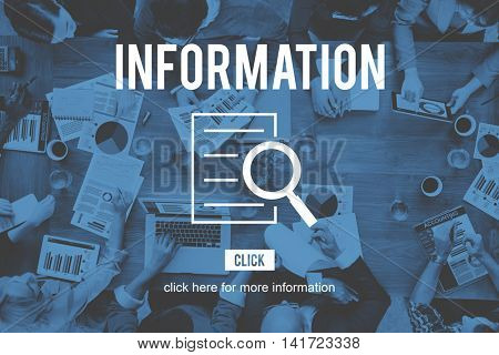 Information Research Investigation Discovery Concept