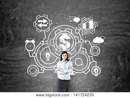 Woman Thinking About Startup Development