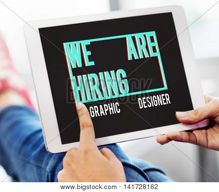 We are Hiring Job Applicaion Creative Occupation Designer Concept