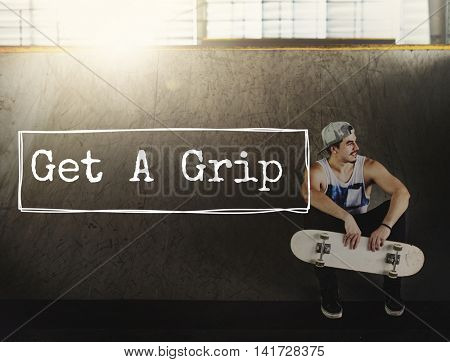 Get Grip Calm Calmness Enjoyment Relaxation Concept