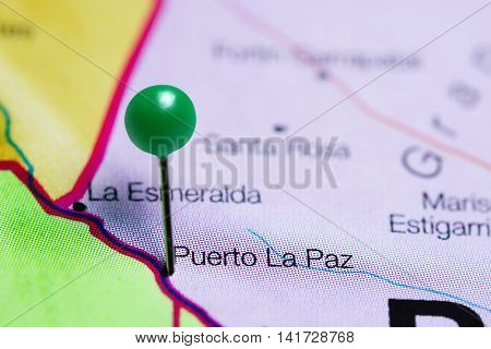 Puerto La Paz pinned on a map of Paraguay