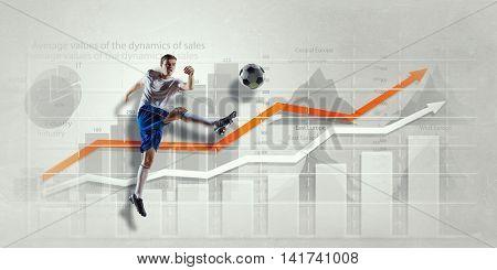 Football game statistics . Mixed media