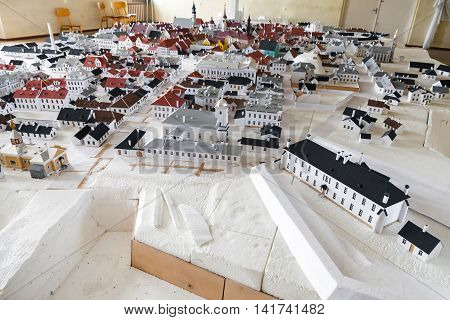 Narva Town Layout Made Of Paper