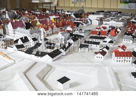 Old Narva Town Layout Made Of Paper