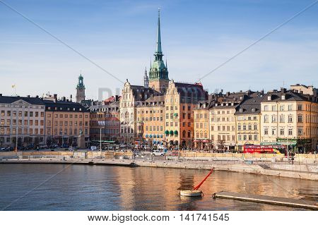 Morning Cityscape. Gamla Stan, Stockholm