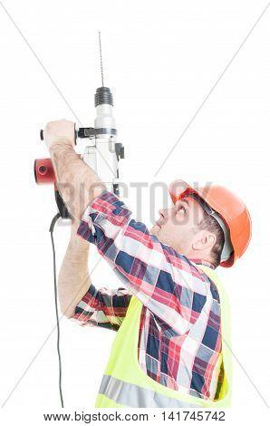 Porfessional Builder Using The Drill Machine