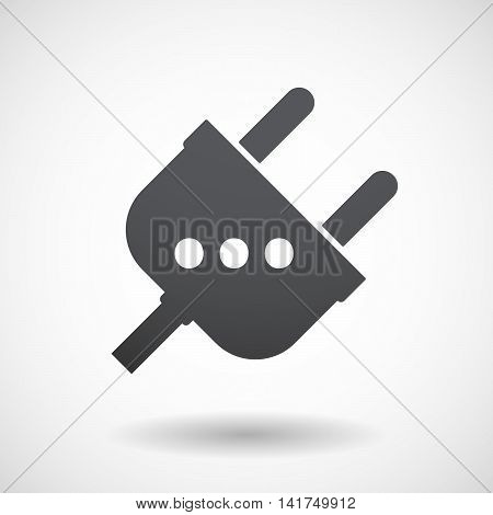 Isolated Male Plug With  An Ellipsis Orthographic Sign