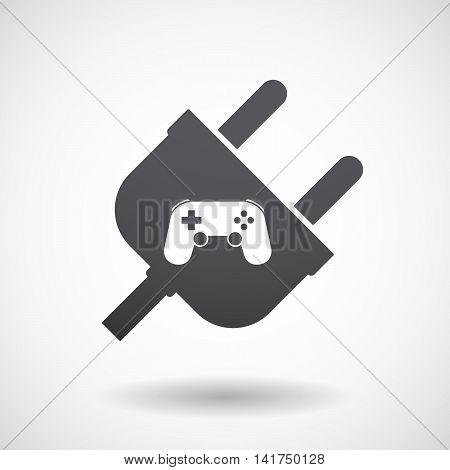 Isolated Male Plug With  A Game Pad