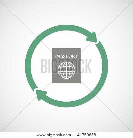 Isolated Reuse Icon With  A Passport