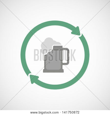 Isolated Reuse Icon With  A Beer Jar Icon