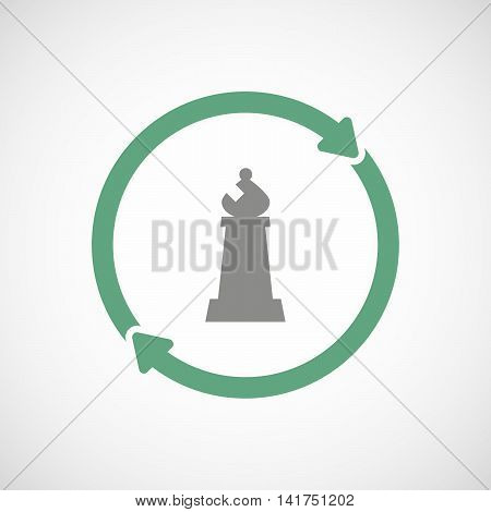 Isolated Reuse Icon With A Bishop    Chess Figure