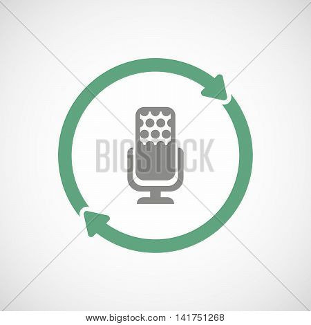 Isolated Reuse Icon With  A Microphone Sign
