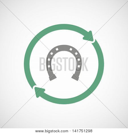 Isolated Reuse Icon With  A Horseshoe Sign