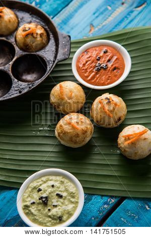 south indian famous breakfast item Appe or Appam or Rava Appe