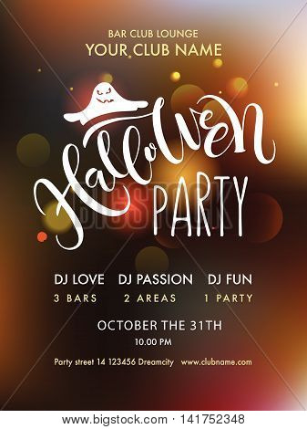 Halloween Party Lettering Typography