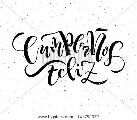 Cumpleanos Feliz (happy Birthday In Spanish) Lettering Typography